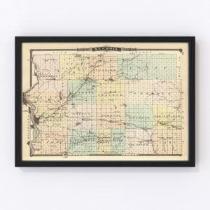 Vintage Map of St. Croix County Wisconsin, 1878