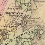 Vintage Map of Knox County Maine, 1885
