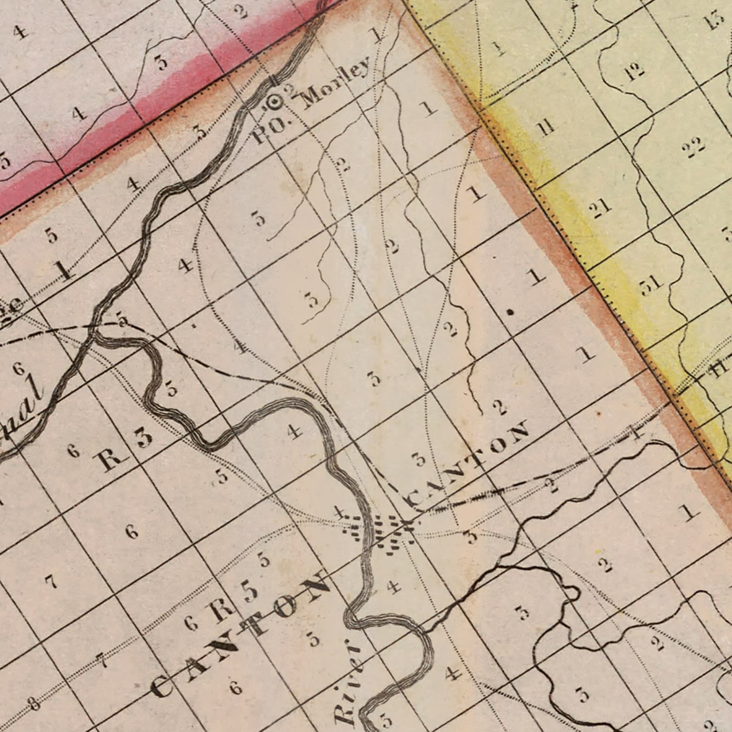 Vintage Map of St. Lawrence County New York, 1840