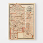 Vintage Map of Jasper County Indiana, 1876