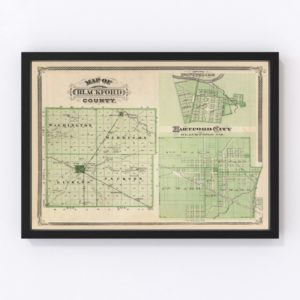 Vintage Map of Blackford County Indiana, 1876