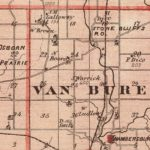Vintage Map of Fountain County Indiana, 1876
