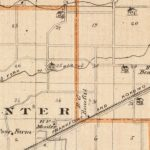 Vintage Map of Clinton County Indiana, 1876