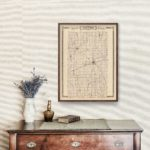 Vintage Map of Tipton County Indiana, 1876