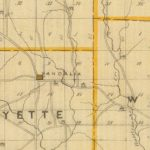 Vintage Map of Owen County Indiana, 1876