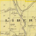 Vintage Map of Union County Indiana, 1876