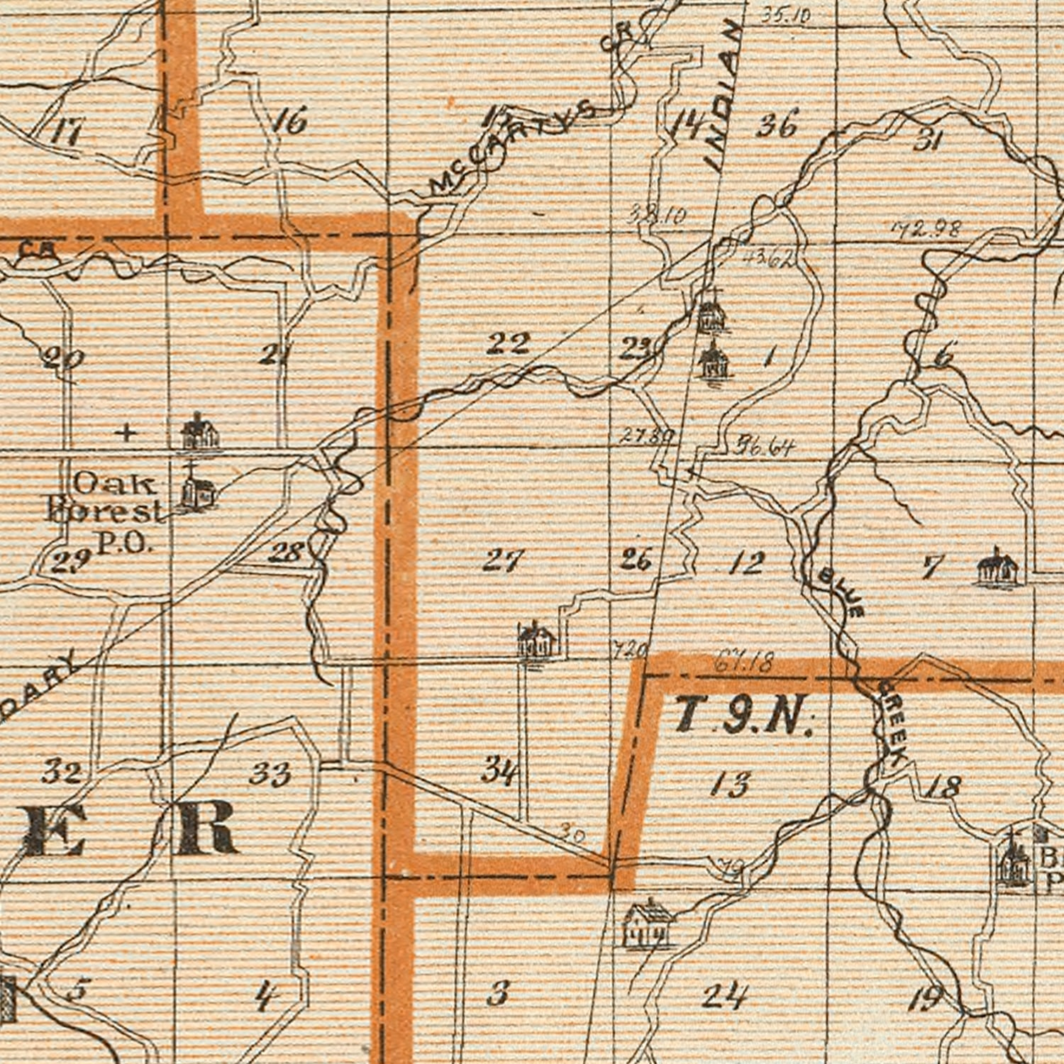 Vintage Map of Franklin County Indiana, 1876