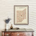Vintage Map of Jennings County Indiana, 1876