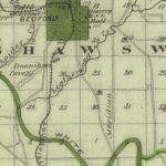 Vintage Map of Lawrence County Indiana, 1876