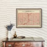 Vintage Map of Greene County Indiana, 1876