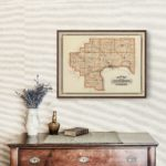 Vintage Map of Jefferson County Indiana, 1876