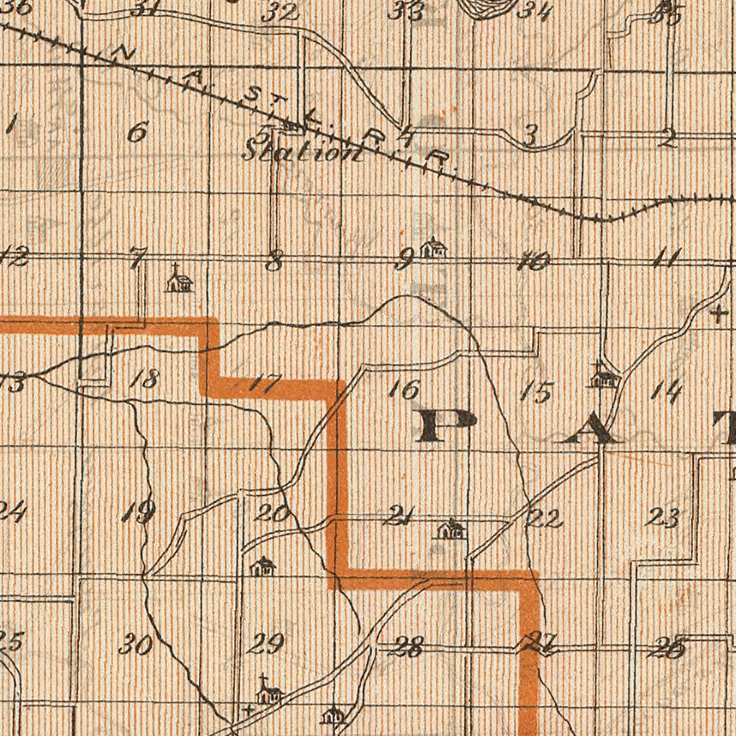 Vintage Map of Gibson County Indiana, 1876