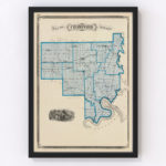 Vintage Map of Crawford County Indiana, 1876