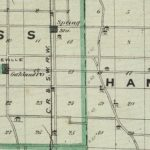 Vintage Map of Spencer County Indiana, 1876
