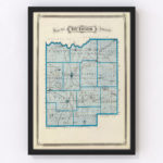 Vintage Map of Dubois County Indiana, 1876