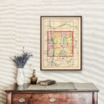 Vintage Map of Mecosta County Michigan, 1873