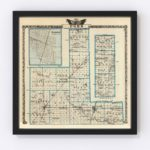 Vintage Map of Ford County Illinois, 1876