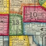 Vintage Map of Baltimore, Maryland 1860