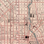 Vintage Map of Baltimore, Maryland 1897