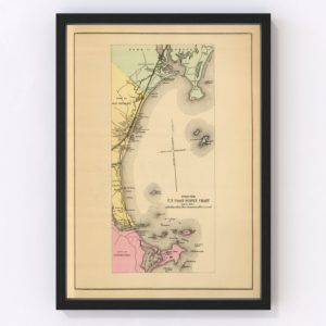Vintage Map of Scarborough, Maine 1894