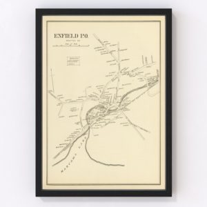 Vintage Map of Enfield, New Hampshire 1892