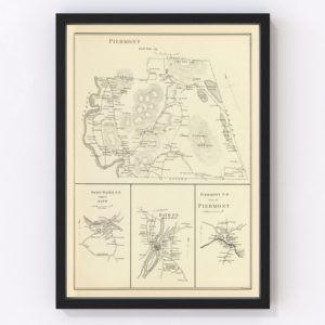 Vintage Map of Piermont, New Hampshire 1892