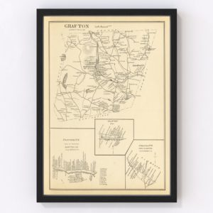 Vintage Map of Franconia, New Hampshire 1892