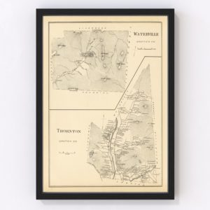 Vintage Map of Thornton, New Hampshire 1892