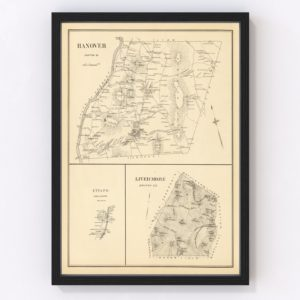 Vintage Map of Hanover, New Hampshire 1892