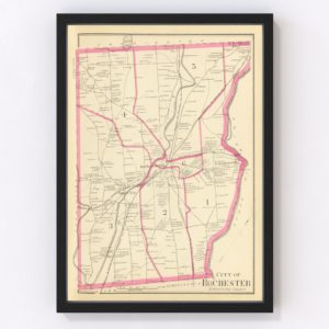 Vintage Map of Rochester, New Hampshire 1892
