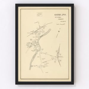 Vintage Map of Gonic, New Hampshire 1892
