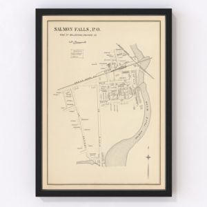 Vintage Map of Rollinsford, New Hampshire 1892