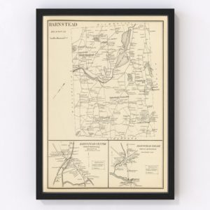Vintage Map of Barnstead, New Hampshire 1892