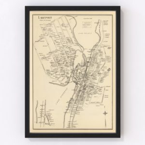 Vintage Map of Lakeport, New Hampshire 1892