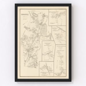Vintage Map of Moultonville, New Hampshire 1892