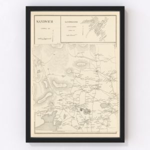 Vintage Map of Sandwich, New Hampshire 1892