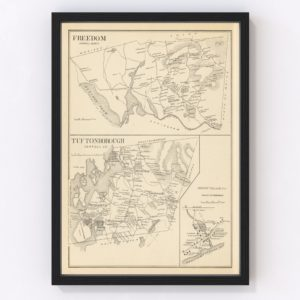 Vintage Map of Freedom, New Hampshire 1892