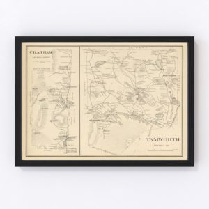 Vintage Map of Chatham, New Hampshire 1892
