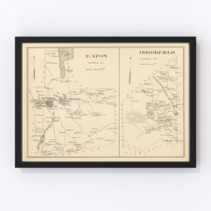 Vintage Map of Brookfield, New Hampshire 1892