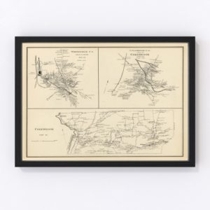 Vintage Map of Colebrook, New Hampshire 1892