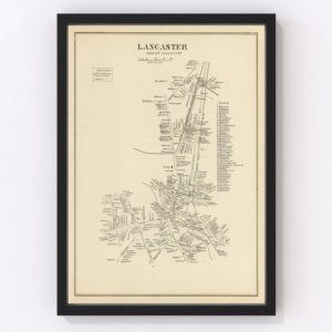 Vintage Map of Lancaster, New Hampshire 1892