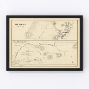 Vintage Map of Berlin, New Hampshire 1892