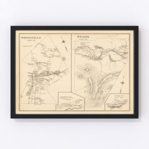 Vintage Map of Stark, New Hampshire 1892
