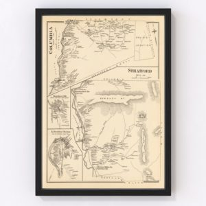 Vintage Map of Columbia, New Hampshire 1892