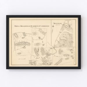 Vintage Map of Millsfield, New Hampshire 1892