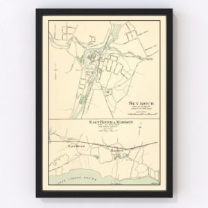 Vintage Map of Madison, Connecticut 1893
