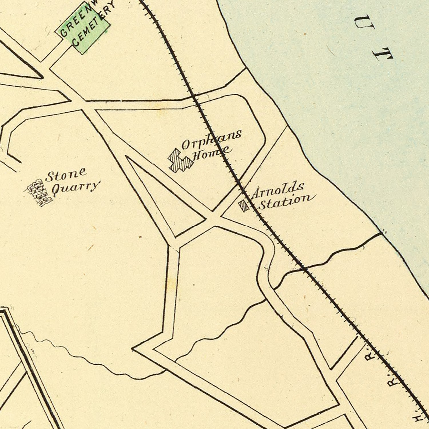 Vintage Map of Haddam, Connecticut 1893