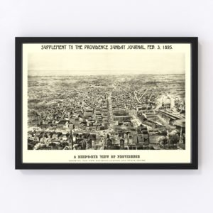 Vintage Map of Providence, Rhode Island 1895