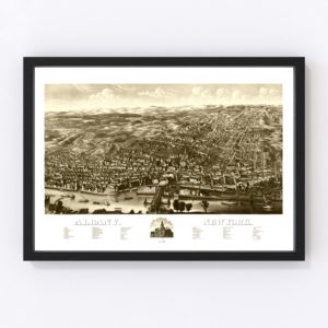 Vintage Map of Albany, New York 1879
