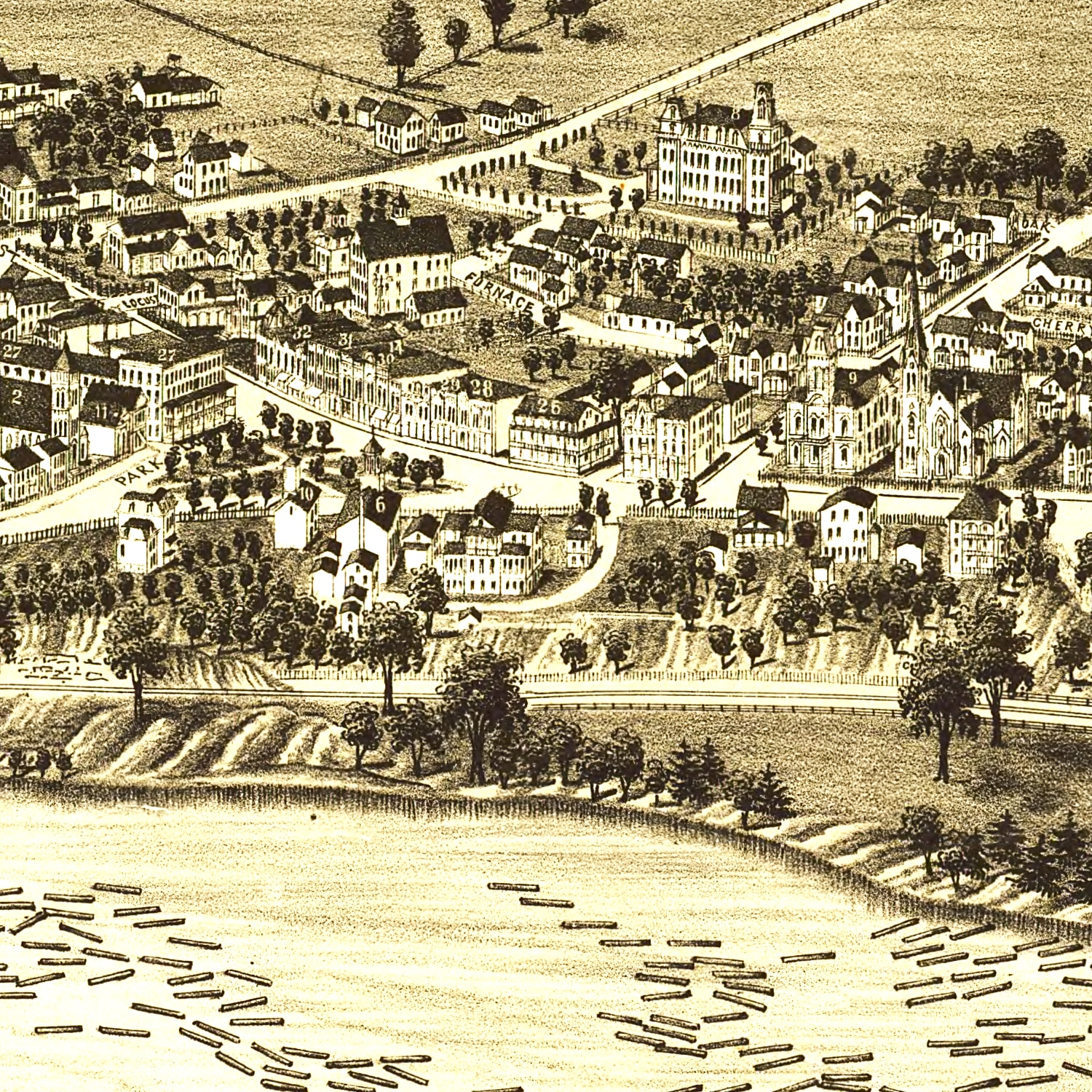 Vintage Map of Sandy Hill, New York 1884